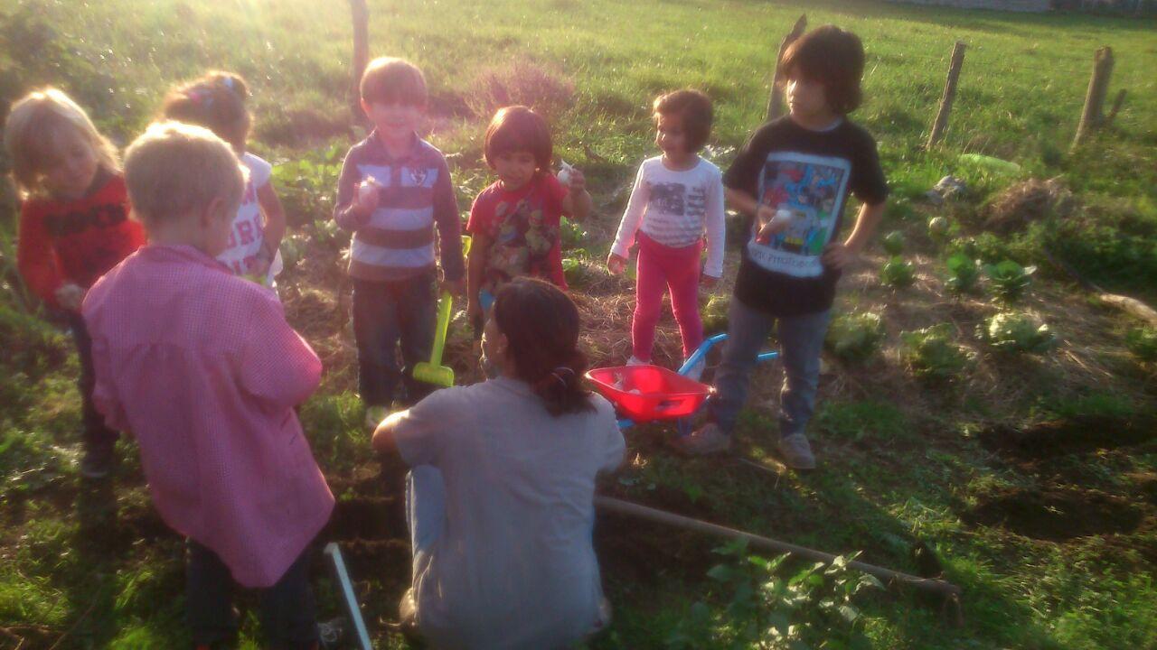 Niños aprendiendo ecología EcoAsturias