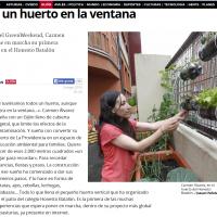 Así contó El Comercio nuestro proyecto de Huertos Urbanos, premio GreenWeekend Oviedo 2015