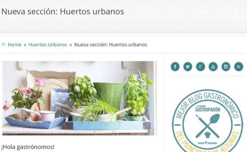 EcoAsturias colabora con GdeGastronomia en la difusión de los huertos urbanos