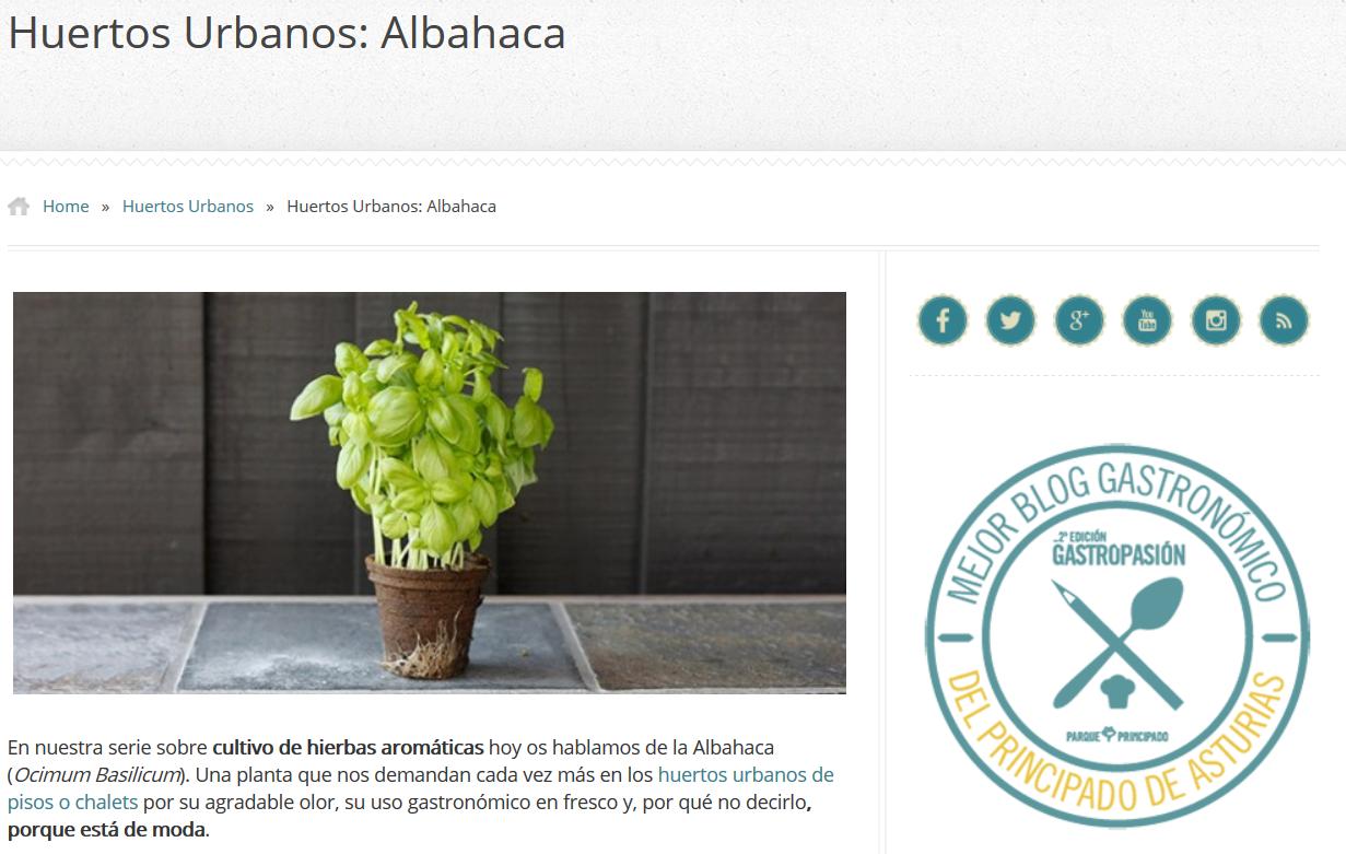Post EcoAsturias sobre la albahaca en Gdegastronomia