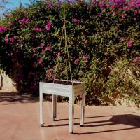 Mesa cultivo galvanizada con adaptadores ecoasturias