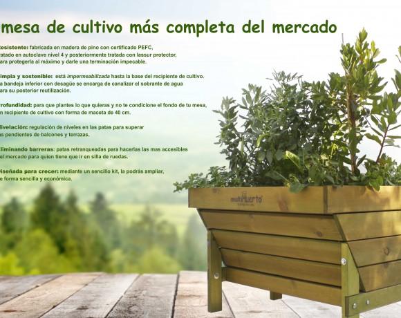 Mesa de cultivo para huerto urbano de venta online