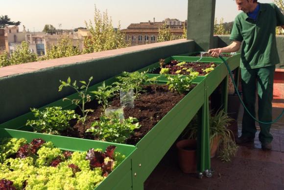 mesa de cultivo lacada para huertos urbanos ecologicosasturias