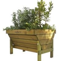 Mesa de cultivo sostenible para huertos urbanos distribuida por EcoAsturias