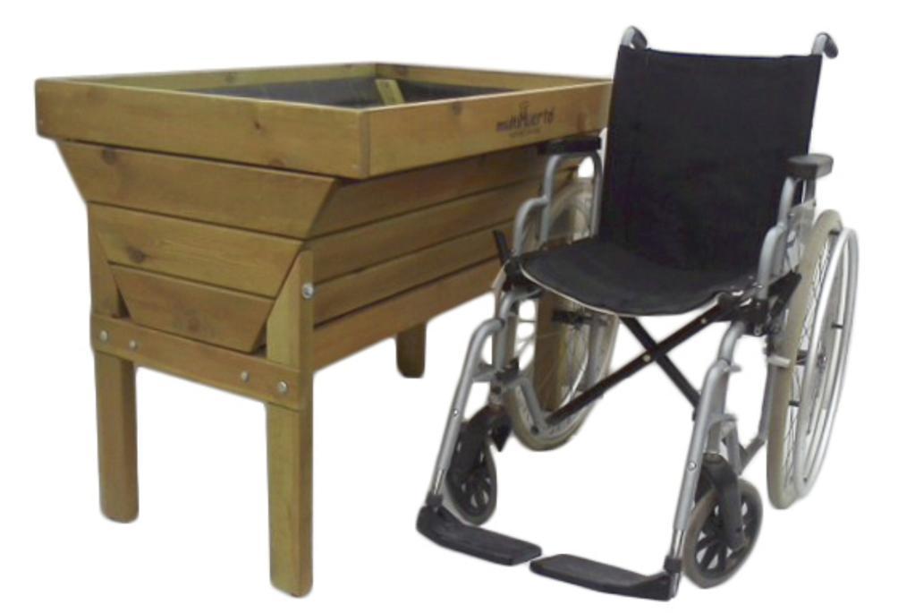 Mesas de cultivo para huertos urbanos accesibles for Mesas de cultivo grandes