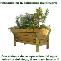 Mesa de cultivo para huertos urbanos Carla con drenaje distribuida por EcoAsturias