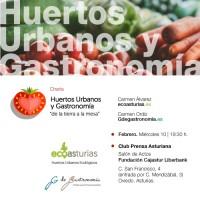 Charla «Huertos Urbanos y Gastronomía» en La Nueva España