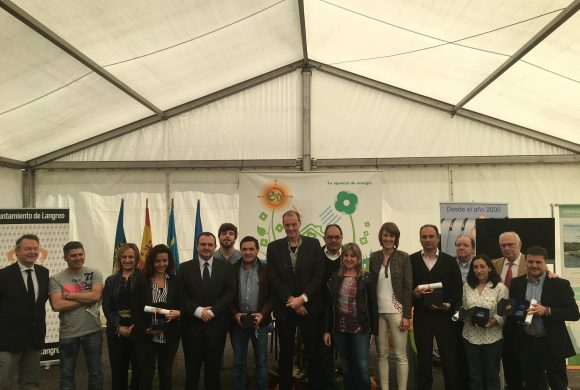 Autoridades y premiados en Expoenergía 2017