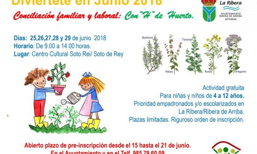 Campamento de huerta ecológico para niños en Asturias