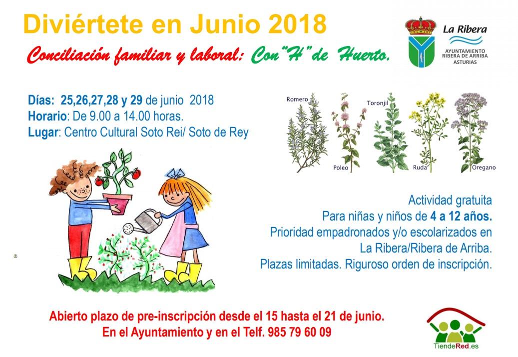 Campamento de huerta ecológica para niños en Asturias